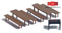 Busch 7782 Mini-Set: Sörpadok és kerti grill (H0)
