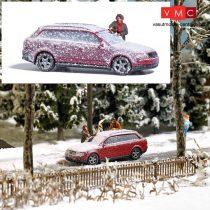 Busch 7859 Action-Set: Havas autó takarítása indulás előtt (H0)