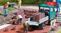 Busch 7871 Ültetőkövek/betonedények és térelválasztók (Palisaden), vörösbarna (H0)