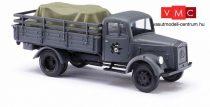 Busch 80081 Mercedes-Benz L 3000 A katonai platós teherautó, rakománnyal - Wehrmacht (H0)