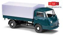 Busch 94210 Goliath Express platós/ponyvás furgon - kékeszöld (H0)