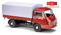 Busch 94211 Goliath Express platós/ponyvás furgon - világospiros (H0)