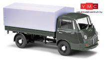 Busch 94212 Goliath Express platós/ponyvás furgon - szürke (H0)