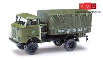 Busch 95214 IFA W50 LA/A ponyvás teherautó, Bereitschaftpolizei (DDR)