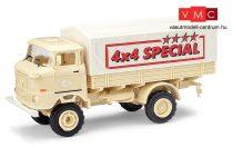 Busch 95230 IFA W50 4x4 ponyvás teherautó, homokszínben (H0)