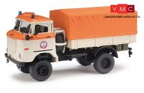 Busch 95234 IFA W 50 LA/A ponyvás teherautó - Seenotrettung (H0)