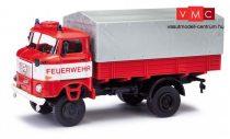 Busch 95249 IFA W50 LA/PV ponyvás tűzoltó - FW (H0)