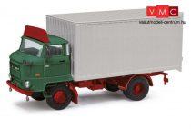 Busch 95507 IFA L60 dobozos teherautó, ETK, tetőspoilerrel, zöld (H0)
