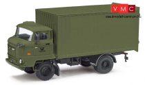 Busch 95528 IFA L60 ETK dobozos teherautó, zöld, Post (H0)