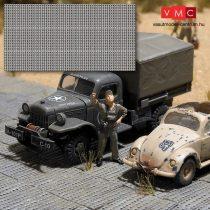 Busch 9604 Dekorlap: katonai homoklemez (H0)