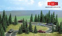 Busch 9711 Útburkolat: kanyar országút, aszfaltozott, felezővonallal (H0)