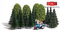 Busch 9777 Vegyes erdő, 13 db fenyő, 4 db lombos fa + Fortschritt ZT 300, tetőn magaslessel