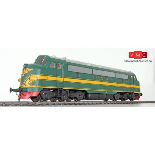 ESU 30344 Diesellok, I, Nohab GM, NSB 3.602 , Ep III, grün/gelb, Vorbildzustand um 1954, LokSound, Raucherzeuger