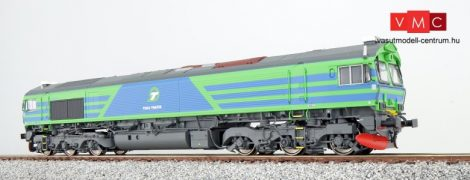 ESU 31079 Dízelmozdony, H0, Class 66, TGOJ T66 714, blau-grün, EP VI, Vorbildzustand um 2010, LokSound, Raucherzeuger, DC/AC