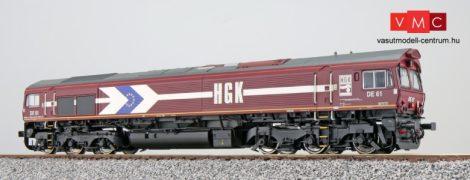 ESU 31271 Dízelmozdony, H0, C66 HGK DE 61, Ep V, Vorbildzustand um 2001, Rot, Sound+Rauch, DC/AC