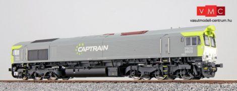 ESU 31276 Dízelmozdony, H0, C66 Captrain 6609, Ep VI, Vorbildzustand um 2011, Grau-Grün, Sound+Rauch, DC/AC