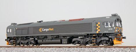 ESU 31277 Dízelmozdony, H0, C66, Cargo Net 66402, Ep VI, Vorbildzustand um 2008, Dunkelgrau, Sound + Smoke, DC+AC