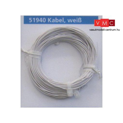 ESU 51940 Extravékony vezeték (10m), fehér, átmérő: 0,5mm, AWG36, 2A (UNI)