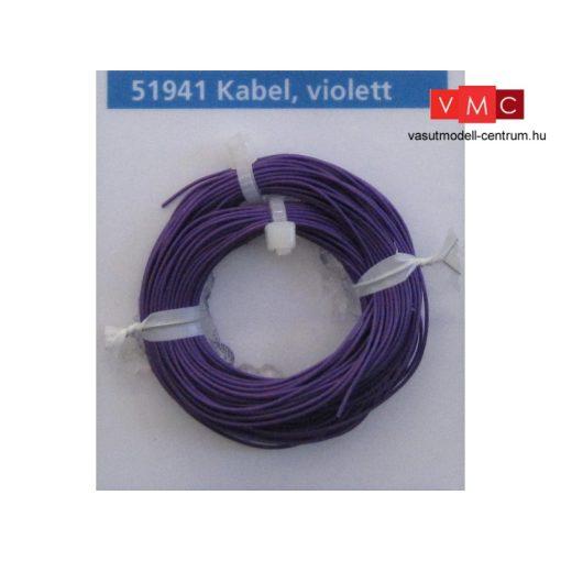 ESU 51941 Extravékony vezeték (10m), lila, átmérő: 0,5mm, AWG36, 2A (UNI)