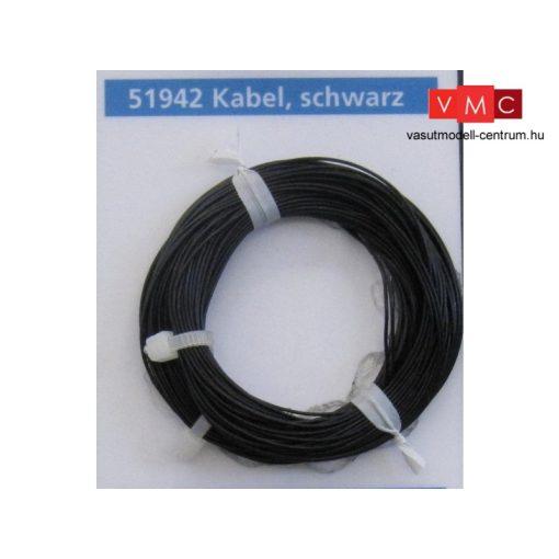 ESU 51942 Extravékony vezeték (10m), fekete, átmérő: 0,5mm, AWG36, 2A (UNI)