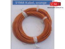 ESU 51944 Extravékony vezeték (10m), narancs, átmérő: 0,5mm, AWG36, 2A (UNI)