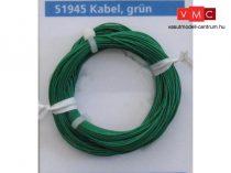 ESU 51945 Extravékony vezeték (10m), zöld, átmérő: 0,5mm, AWG36, 2A (UNI)
