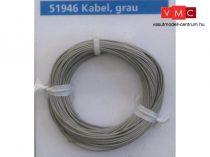 ESU 51946 Extravékony vezeték (10m), szürke, átmérő: 0,5mm, AWG36, 2A (UNI)
