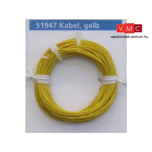 ESU 51947 Extravékony vezeték (10m), sárga, átmérő: 0,5mm, AWG36, 2A (UNI)