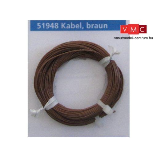 ESU 51948 Extravékony vezeték (10m), barna, átmérő: 0,5mm, AWG36, 2A (UNI)