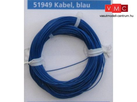 ESU 51949 Extravékony vezeték (10m), kék, átmérő: 0,5mm, AWG36, 2A (UNI)