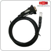 ESU 51952 Vezeték USB-A 2.0 FTDI RS232, 180cm vezetékkel Lokprogrammerhez (UNI)