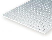 Evergreen 504503 Járdalap sztirol, 150x300 mm / 1,00 mm vastag (3,2 x 3,2 mm négyzet-méret)