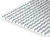 Evergreen 512080 Barázdált (V-alak) sztirollap, 300 x 600 mm / 0,5 mm vastag (0,40) (1 db)