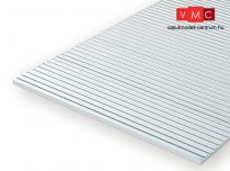 Evergreen 512100 Barázdált (V-alak) sztirollap, 300 x 600 mm / 0,5 mm vastag (0,45) (1 db)