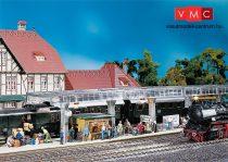 Faller 120188 Állomási peron üvegtetővel, peronkiegészítőkkel
