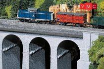 Faller 120478 Vasúti kőviadukt, íves, R=360mm 30°