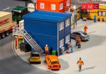 Faller 130134 Lakókonténerek építkezésekhez, 4 db - kék (H0)