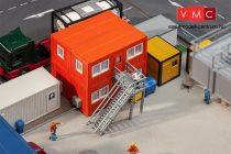 Faller 130135 Lakókonténerek építkezésekhez, 4 db - narancssárga (H0)