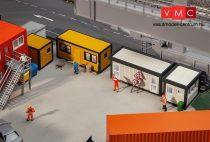 Faller 130136 Lakókonténerek építkezésekhez, 2 db 40 lábas és 2 db 20 lábas - sárga-fe