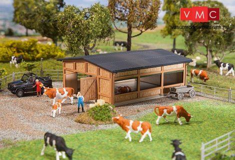 Faller 130547 Modern oldalán nyitott istálló, állatkarámmal (H0)