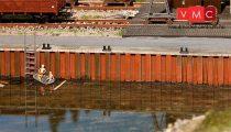 Faller 131012 Kikötői rakpartelemek