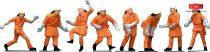 Faller 151036 Tűzoltók narancssárga védőruhában