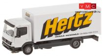 Faller 161560 Car-System: Mercedes Benz Atego dobozos teherautó (Herpa), Hertz (H0)