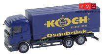 Faller 161595 Car-System: Scania R 13 HL ponyvás teherautó, Koch (HERPA) (H0)