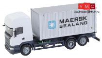 Faller 161598 Car-System: Scania R 13 konténerszállító teherautó, 20 lábas MAERSK kontén
