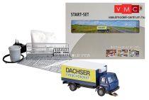 Faller 162007 Car-Sytem kezdőkészlet: Mercedes-Benz SK hűtődobozos teherautó, Dachser (N)