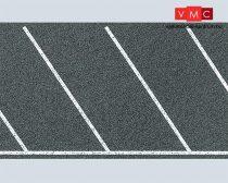 Faller 170634 Útfólia: Rézsútos parkolóhelyek, aszfalt