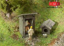 Faller 180396 Kerti WC figurával, működő ajtóval (H0)