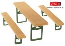 Faller 180444 Sörpadok asztalokkal