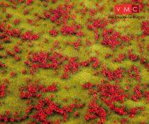 Faller 180460 Premium fűlap: Virágos rét, piros virágokkal (pipacs)